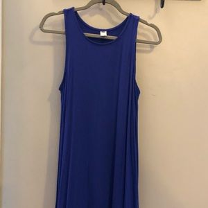 Old Navy royal blue shift tank top dress